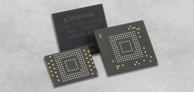 Kingston NXP Partnership eMMC Family eMMC chips