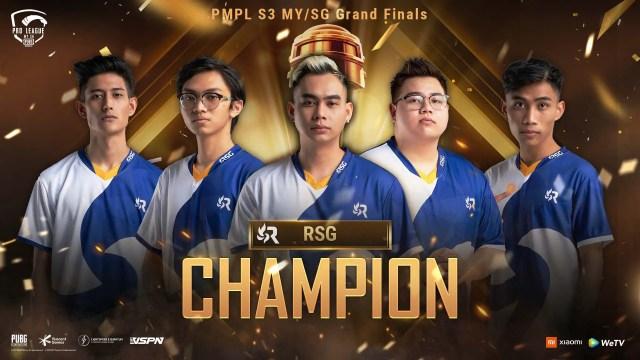 PUBG Mobile Pro League MYSG S3 Champion RSG