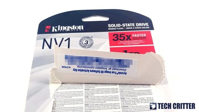 Kingston NV1 NVMe PCIe SSD 3B