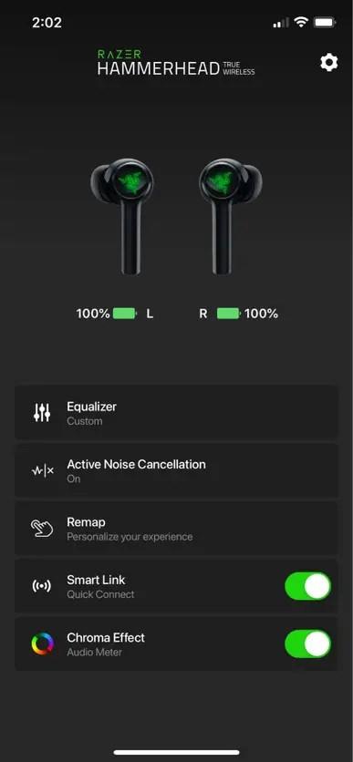 Razer Hammerhead TWS Mobile App