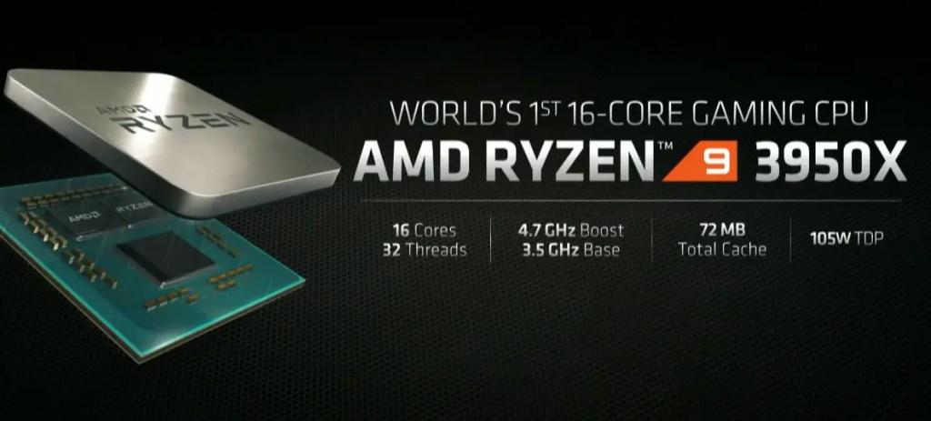 AMD announced 16-core Ryzen 9 3950X CPU at E3 2019 for $749 1