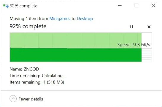 AORUS NVMe Gen4 SSD File Copy (From Gen4 SSD)