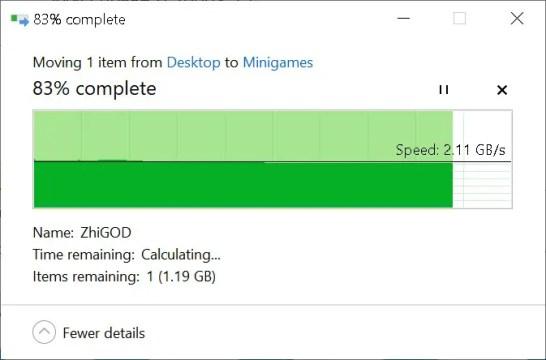 AORUS NVMe Gen4 SSD File Copy (To Gen4 SSD)