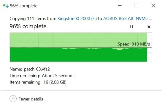 ASUS ROG Strix Arion copy to PCIe NVMe SSD