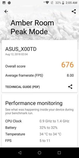 ASUS ZenFone Max Pro (M1) 6GB version VRMark benchmark
