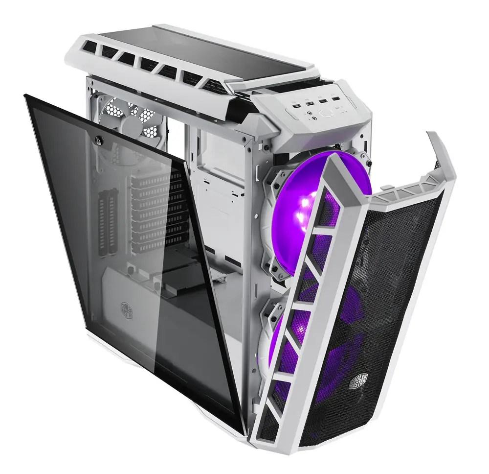 Výsledek obrázku pro cooler master h500p white