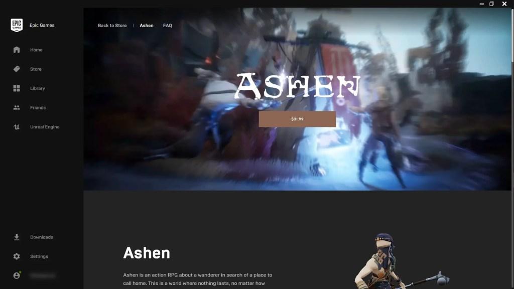 Epic Games Store Ashen