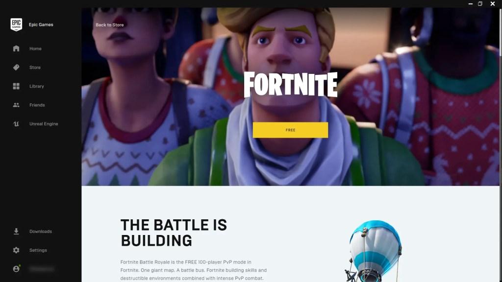 Epic Games Store Fortnite