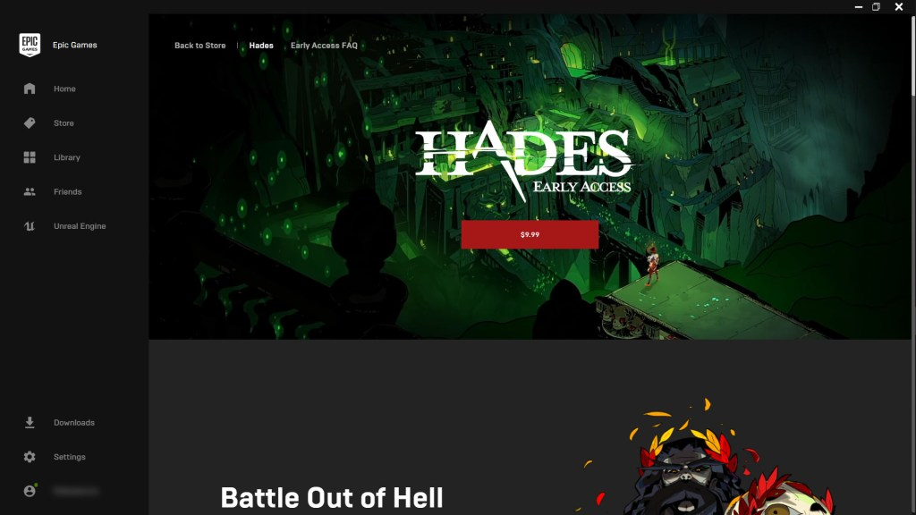 Epic Games Store Hades