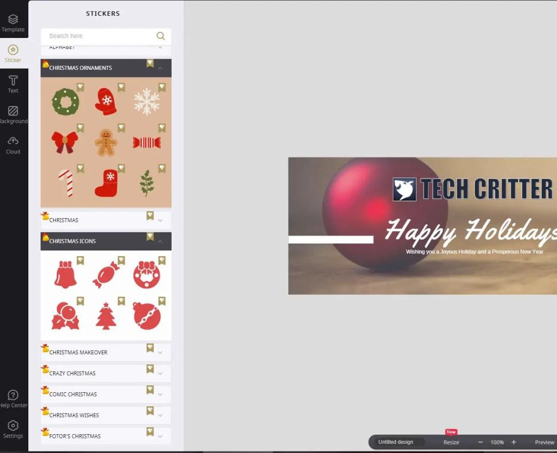 Make Impressive Christmas Social Media Graphics with Fotor 1