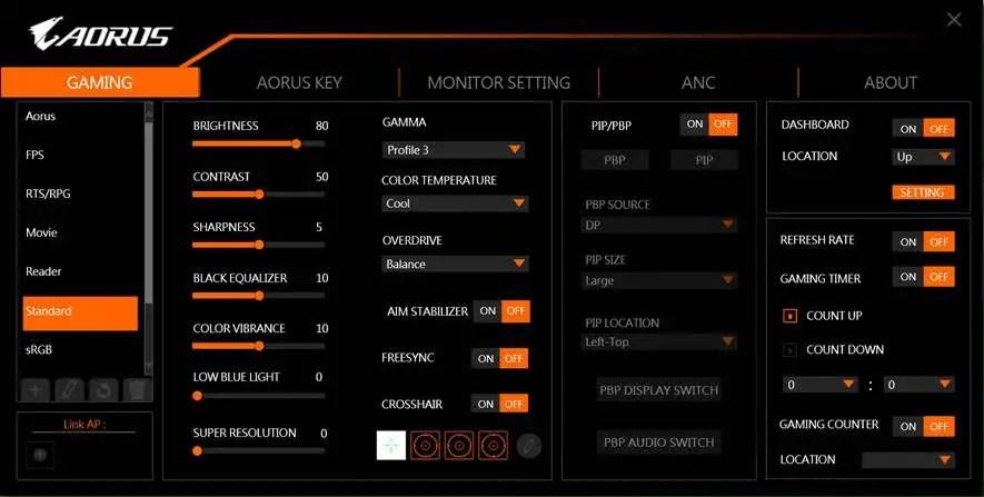 Gigabyte AORUS CV27Q Tactical Gaming Monitor (5)