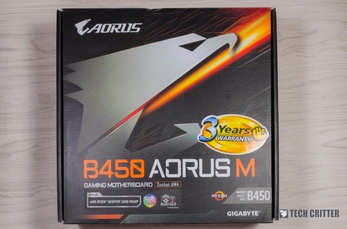 Gigabyte B450 AORUS M Motherboard Performance Review