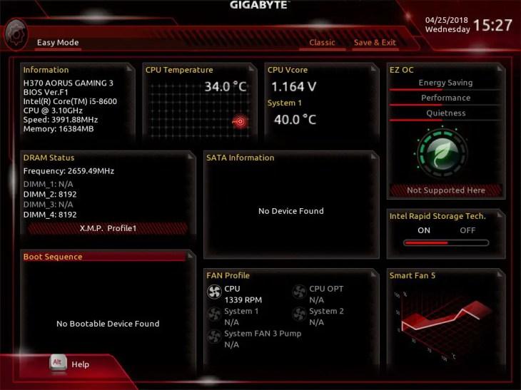 Gigabyte H370 AORUS Gaming 3 UEFI BIOS (0)