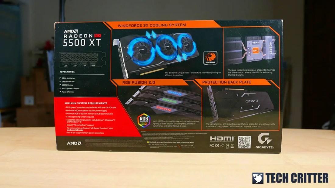 Gigabyte Radeon RX 5500 XT Gaming OC 8G (2)