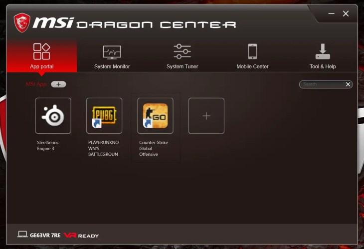 MSI GE63VR Dragon Center (01)
