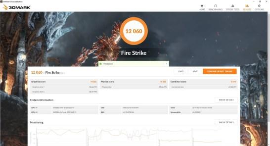 MSI GF65 Thin 9SD Fire Strike