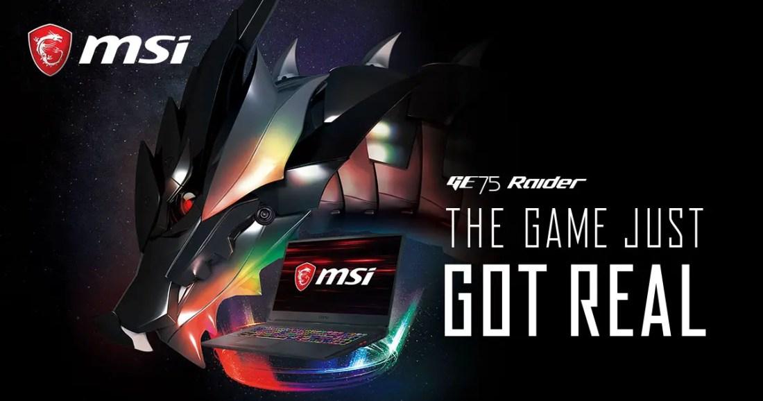MSI GeForce RTX Gaming Notebooks GE75 Raider
