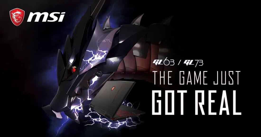 MSI GeForce RTX Gaming Notebooks GL63 GL73