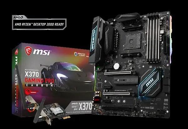 MSI X370 A320 B350 AMD Raven Ridge APU Ryzen 5 2400G Ryzen 3 2200G header