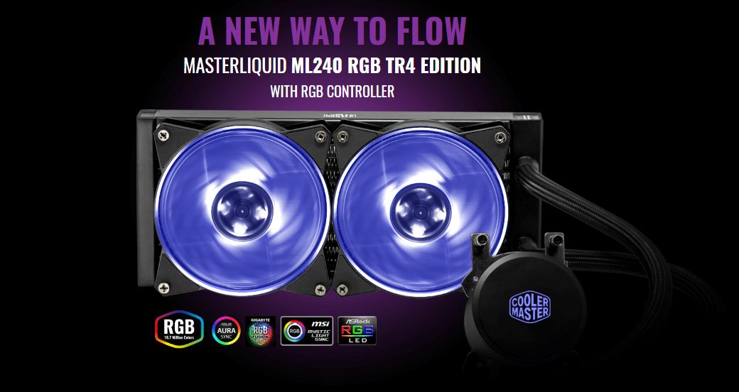 MasterLiquid ML240 RGB TR4 Edition Featured