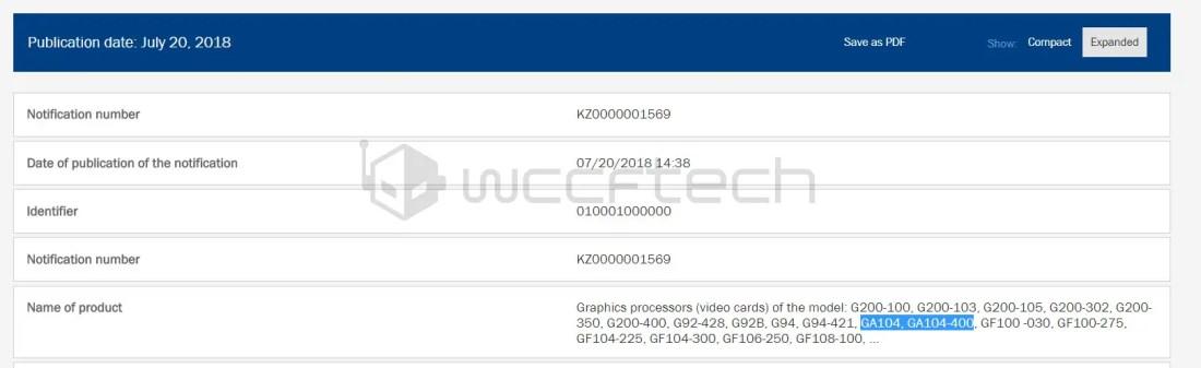 NVIDIA Upcoming Ampere GA104 Based GeForce GTX 2080 and GTX 2070 Leaked 2