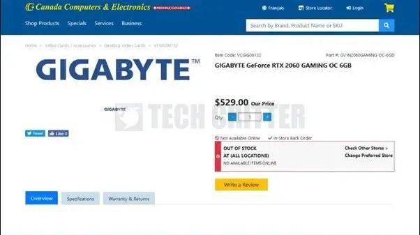 NVIDIA GeForce RTX 2060 Canada Computers Electronics Leak (1)