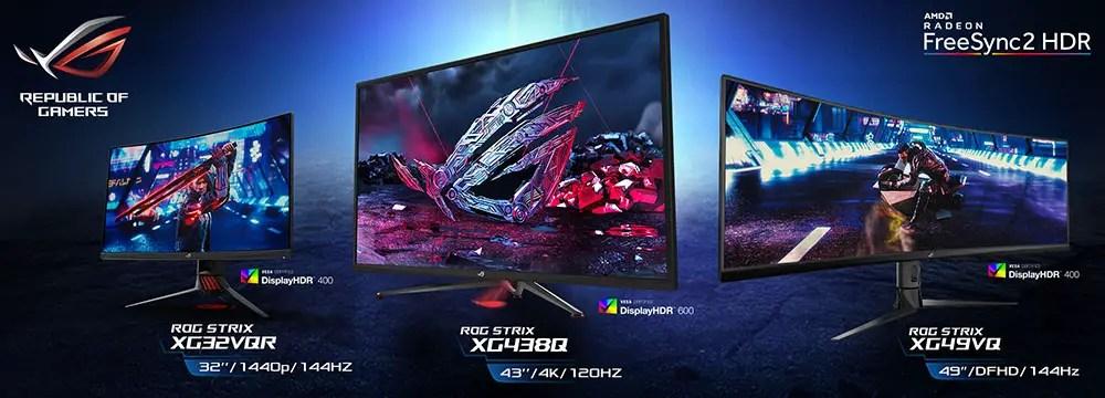 New ROG Strix XG HDR Gaming Monitor Lineup