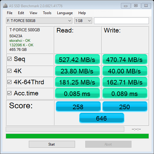 T-FORCE DELTA MAX 500GB AS SSD Benchmark 1GB (1)