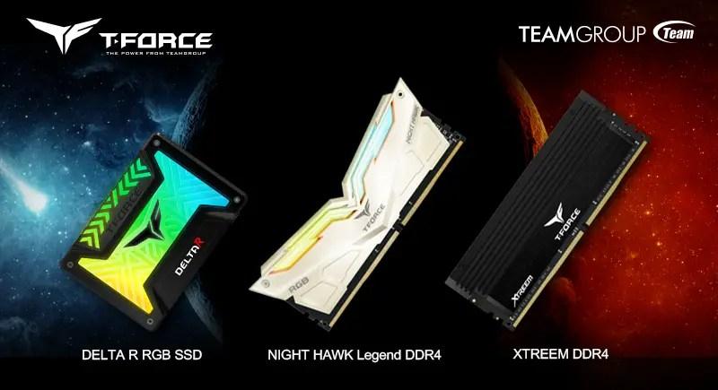 T-FORCE Announces New DELTA R RGB SSD, NIGHT HAWK & XTREEM RAM