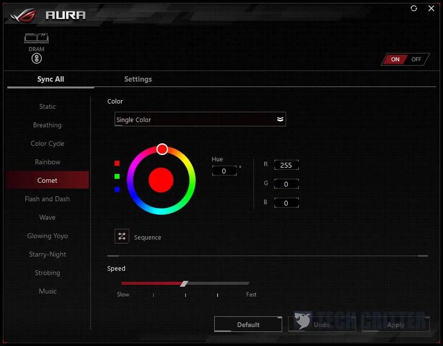 T-Force Blitz Teamgroup Nighthawk DDR4 RGB