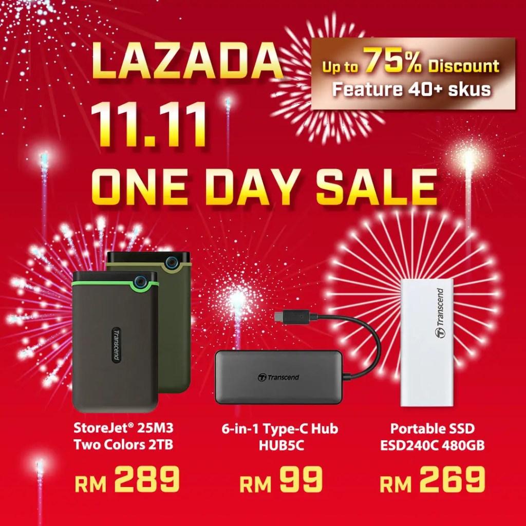Transcend 1111 Lazada Malaysia