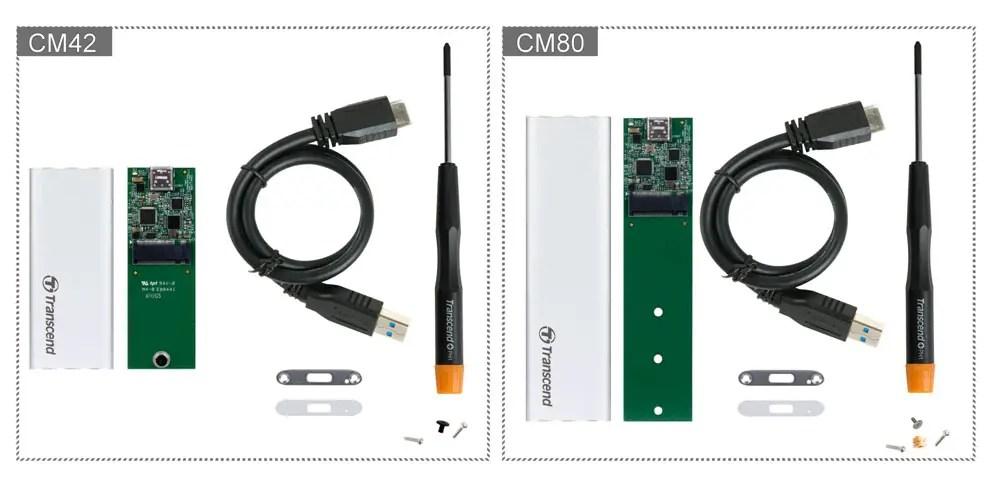 Transcend SSD Enclosure Kit UASP CM42 CM80