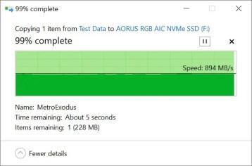 Transcend StoreJet ESD350C Copy to SSD (Intel)