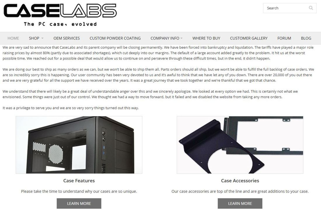 caselabs close down permanently featured