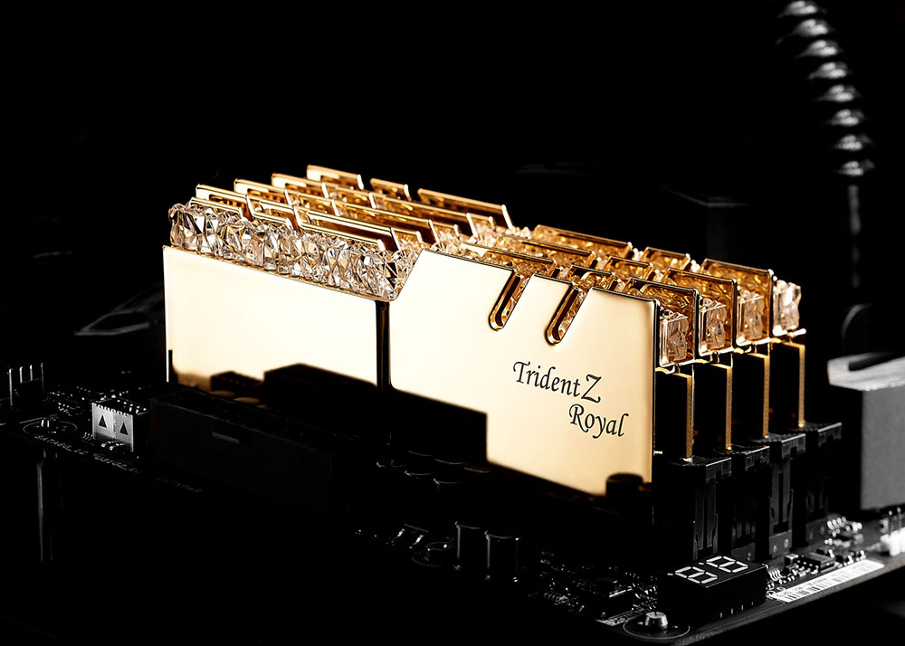 gskill trident Z royal gold mobo