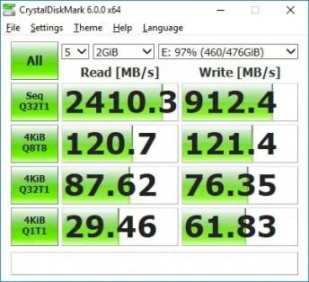 transcend mte850 crystal disk (90%)