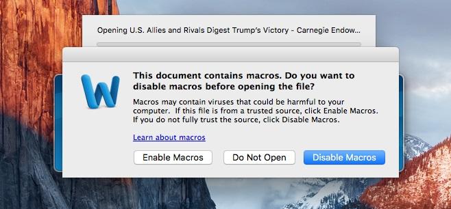 تحذير فيروس في أجهزة ماك يستخدم خدع الويندوز القديمة للوصول الي اللاب توب