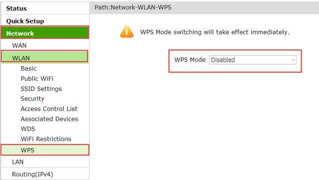 طريقة إعداد رواتر TE Data + إنشاء شبكة الواى فاى + إغلاق ثغرة wps