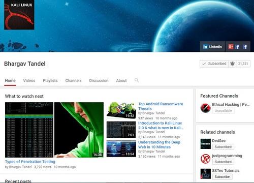 أفضل 7 قنوات على اليوتيوب لتعلم الهاكر الاخلاقى