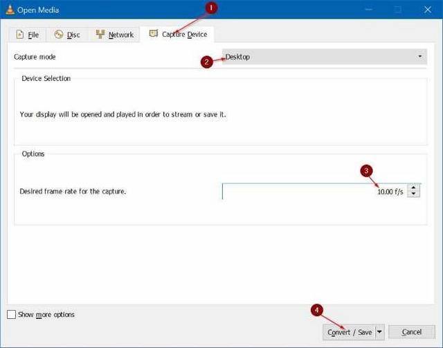 كيف تقوم بتسجيل الشاشة فى ويندوز 10 بإستخدام برنامج VLC Media Player