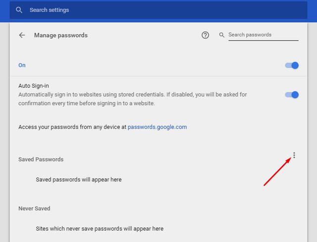 كيفية تحميل كلمات مرور متصفح جوجل كروم وتصديرها