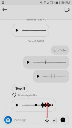 كيفية إرسال رسالة صوتية على انستجرام Instagram