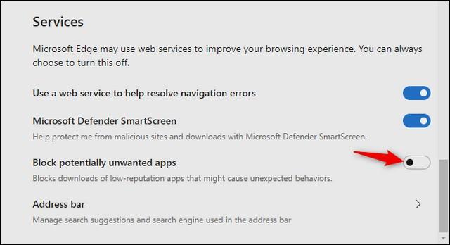 كيفية تمكين أداة حظر البرامج الضارة في متصفح إيدج كروميوم Crapware Blocker