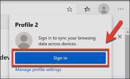 طريقة انشاء حسابات مستخدمين متعددة في متصفح ميكروسوفت إيدج