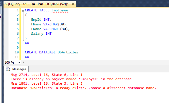 Sql Server Create Table If Not Exists Example | Review Home Decor