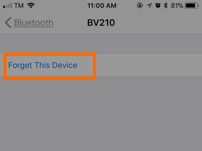 Paramètres de l'iPhone Périphérique Bluetooth Autre bouton Info Bouton Forger