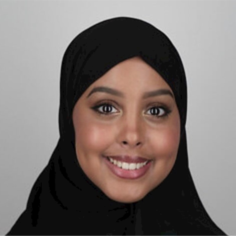 Profile picture of Ramla Anshur. A smiling young woman wearing a black hijab. Part of women in tech interview series