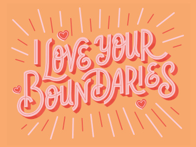 i love your boundaries illustration