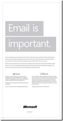 1464.email important 2 thumb حرب اعلامية جديدة بين قوقل ومايكروسوفت