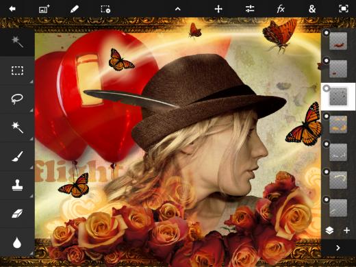 ios pstouch screenshot 091 520x390 أدوبي تطلق تطبيق Photoshop Touch لجهاز الايباد 2